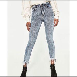 Zara Trafaluc Denimwear Acid Wash Skinny Jeans
